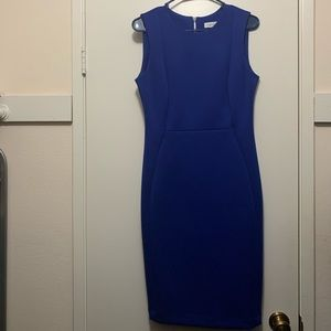 Calvin Klein sheath dress with back zipper
